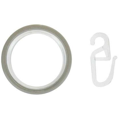 Кольцо с крючком 3.5 см цвет белый антик