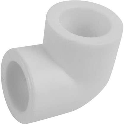 Колено с уклоном на 90 градусов 20 мм полипропилен