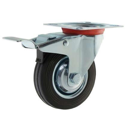 Купить Колесо 100 мм поворотное с тормозом дешевле