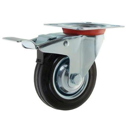 Колесо 125 мм поворотное с тормозом