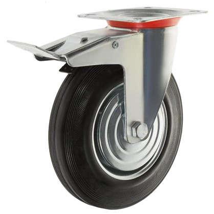 Купить Колесо 200 мм поворотное с тормозом до 205 кг дешевле