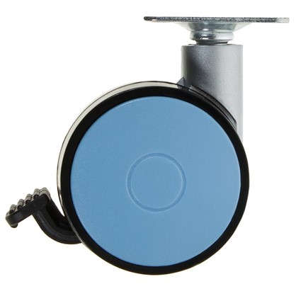 Колесо Boyard N107BL/Blu 60 мм поворотное с тормозом цвет голубой