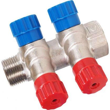 Купить Коллектор с регулирующими вентилями и наружной резьбой Valtec на 2 выхода 3/4x1/2 дешевле