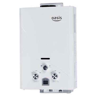 Газовая колонка Oasis 44х30х12 см 6 л/мин цвет белый