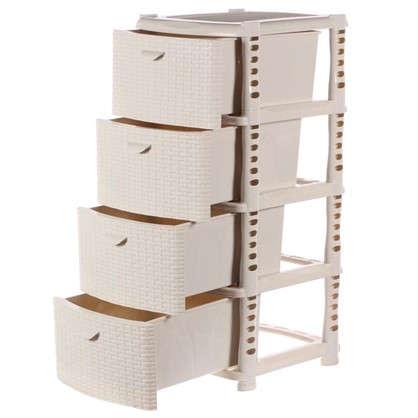 Купить Комод Ротанг 4 ящика 40.5х50.5 см цвет белый дешевле