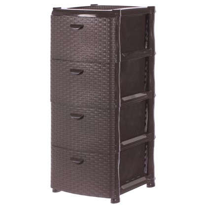 Комод Ротанг 4 ящика 40.5х50.5 см цвет коричневый