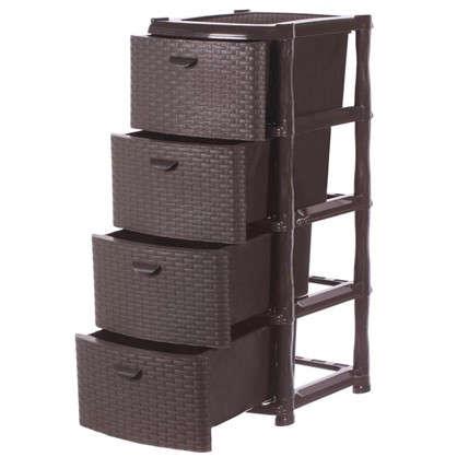 Купить Комод Ротанг 4 ящика 40.5х50.5 см цвет коричневый дешевле