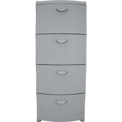 Комод Вязание 4 ящика 40.5х96х50.5 см цвет серый