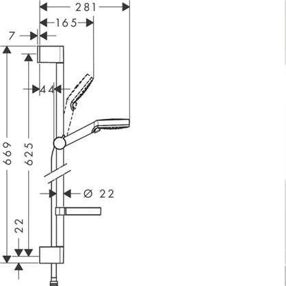Комплект для душа Hansgrohe Crometta Vario 2 режима цвет хром
