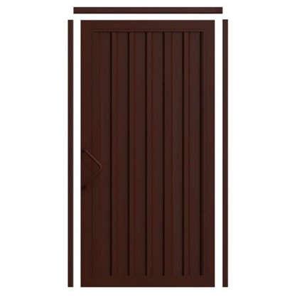 Комплект для калитки Doorhan Revolution 1.36х2.2 м цвет шоколадно-коричневый
