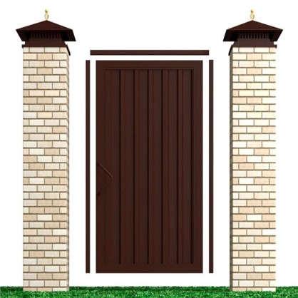 Купить Комплект для калитки Doorhan Revolution 1.36х2.2 м цвет шоколадно-коричневый дешевле