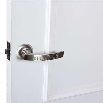 Комплект для межкомнатной двери Фабрика Замков 11L 170 BK с фиксатором цвет серебро
