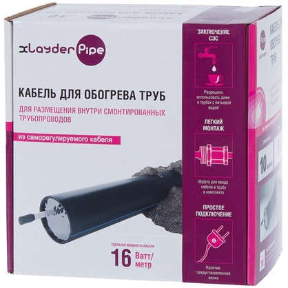 Комплект для обогрева xLayder Pipe EHL-16СТ-10 L