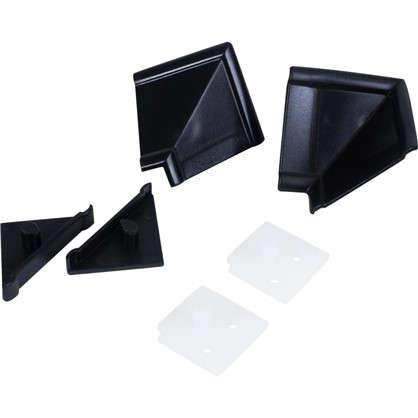 Комплект для установки плинтуса цвет черный