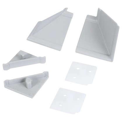 Комплект для установки плинтуса цвет серый