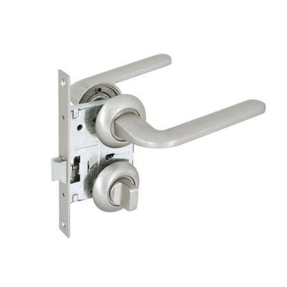 Купить Комплект дверных ручек 24L 170 BK GF с запиранием цвет кофе дешевле