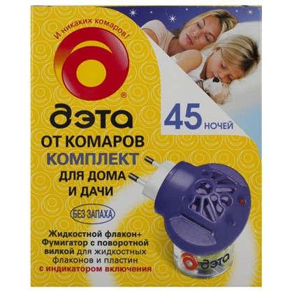 Комплект от комаров: фумигатор + жидкость 45 ночей 30 мл