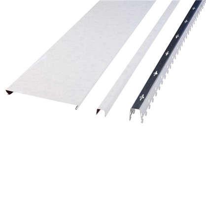 Комплект потолка 1.7х1.7 м цвет белый мрамор