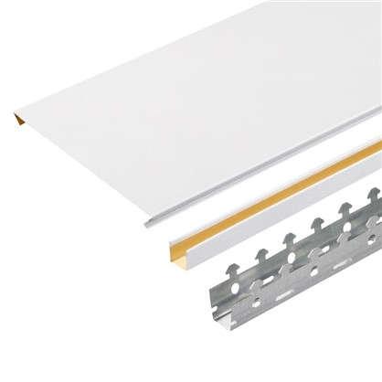 Купить Комплект потолка 1.7х1.7 м цвет белый шёлк дешевле