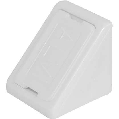 Купить Комплект уголков мебельных с шурупами цвет белый 6 шт. дешевле