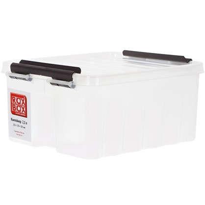 Контейнер Rox Box с крышкой 17x10.5x21 см 2.5 л пластик цвет прозрачный