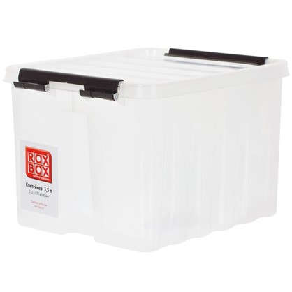 Контейнер Rox Box с крышкой 17x14x21 см 3.5 л пластик цвет прозрачный