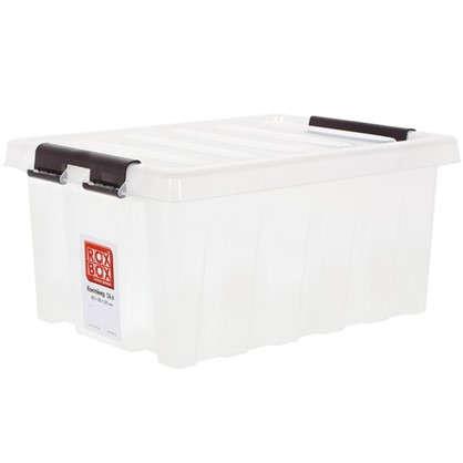 Купить Контейнер Rox Box с крышкой 30x19x40 см 16 л пластик цвет прозрачный дешевле