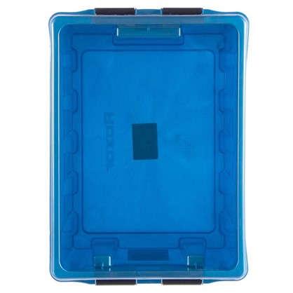Купить Контейнер Rox Box с крышкой 30x19x40 см 16 л пластик цвет синий дешевле