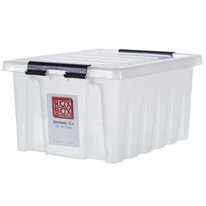 Купить Контейнер Rox Box с крышкой 39x25x50 см 36 л пластик цвет прозрачный дешевле