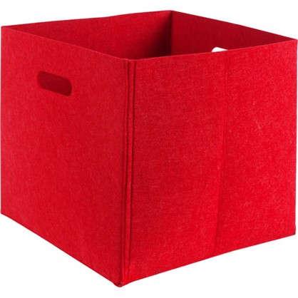 Короб 31х31х31 см войлок цвет красный