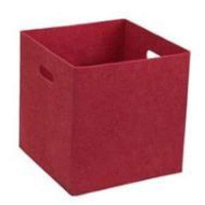 Купить Короб 31х31х31 см войлок цвет красный дешевле