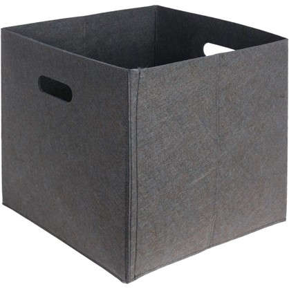 Короб 31х31х31 см войлок цвет темно-серый