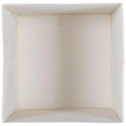 Короб 31x31x31 см полиэстер цвет бежевый