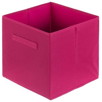 Короб 31x31x31 см полиэстер цвет розовый