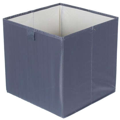 Купить Короб 31x31x31 см полиэстер цвет серый дешевле