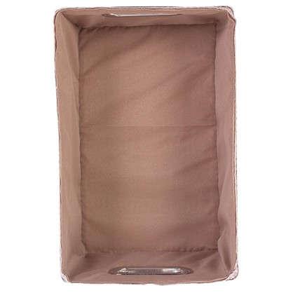 Короб без крышки L 34х16x22 см плетенье цвет бежевый