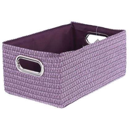 Короб без крышки L 34х16x22 см плетенье цвет лиловый