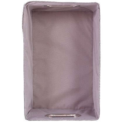 Короб без крышки L 34х16x22 см плетенье цвет серый