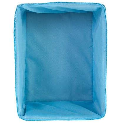 Купить Короб без крышки M 25х16x19 см плетенье цвет голубой дешевле
