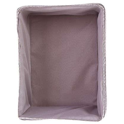 Купить Короб без крышки M 25х16x19 см плетенье цвет серый дешевле