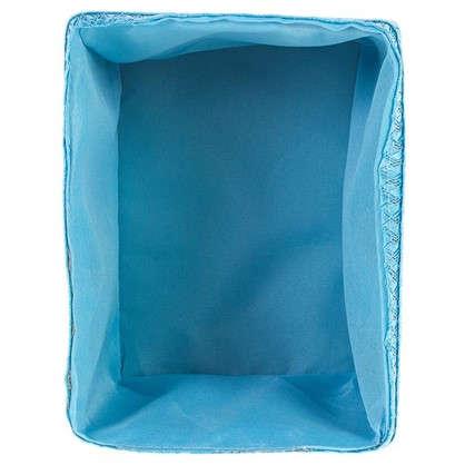Короб без крышки S 21х16х16 см плетенье цвет голубой