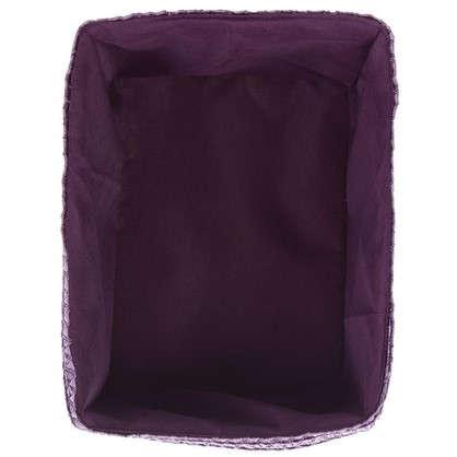 Купить Короб без крышки S 21х16х16 см плетенье цвет лиловый дешевле