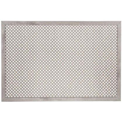Короб декоративный для радиатора Глория 60х90 см цвет пепельный