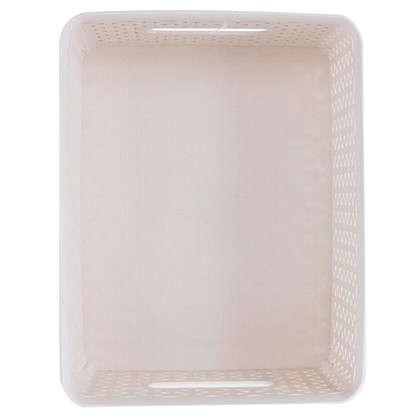 Короб Handy Home плетеный 23.5x12.5x29.5 см пластик цвет бежевый