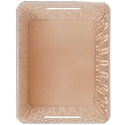 Короб Handy Home плетеный 23.5x20.5x29x5 см пластик цвет бежевый