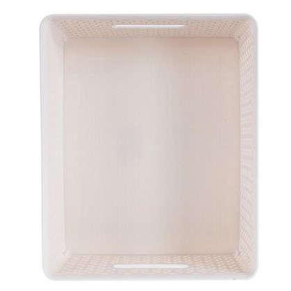 Купить Короб Handy Home плетеный 30x14x36 см пластик цвет бежевый дешевле