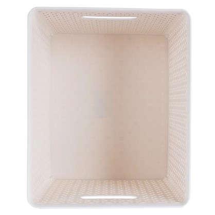 Купить Короб Handy Home плетеный 30x22.5x36 см пластик цвет бежевый дешевле