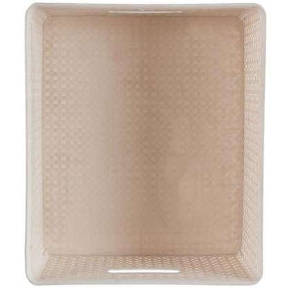Купить Короб Handy Home плетеный 36x16x42.5 см пластик цвет бежевый дешевле