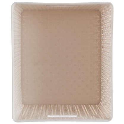Короб Handy Home плетеный 42х24х36 см пластик цвет бежевый