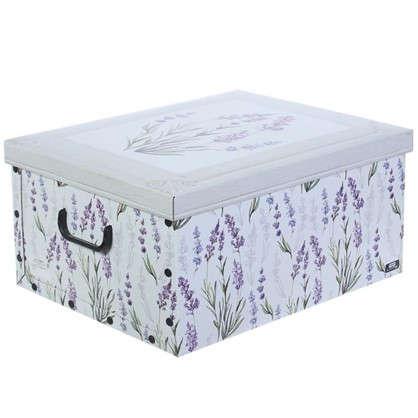 Короб с ручками Цветы 39х50х24 картон